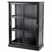 МАЛЬШЁ Шкаф-витрина,черная морилка